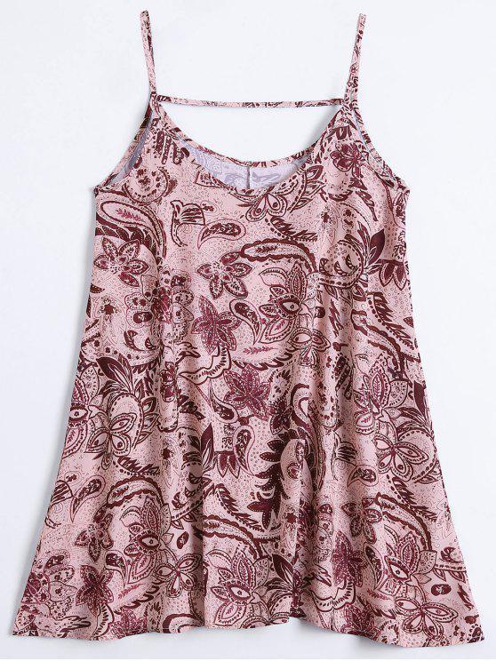 Slip Print Flowy Vestido de Verão - Multicor L