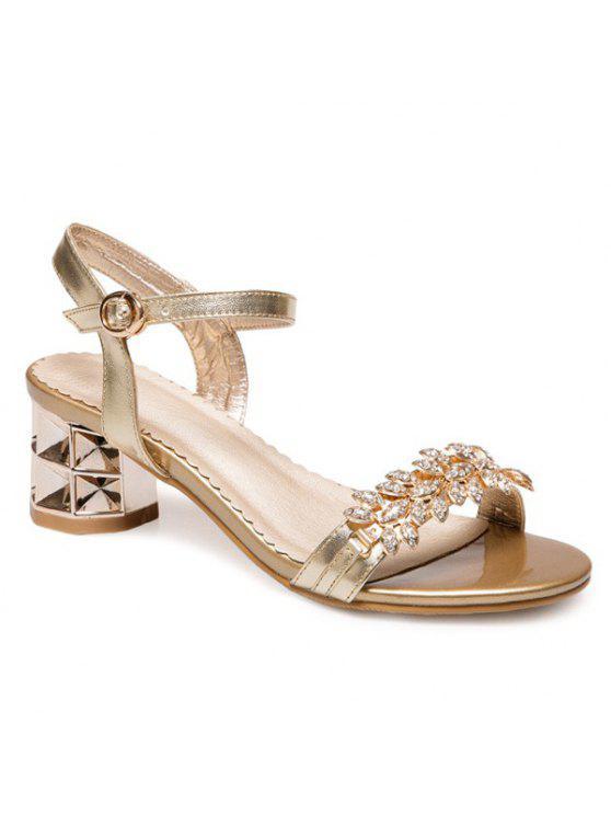 Sandalias de cuero PU - Dorado 37