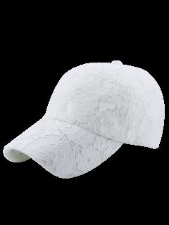 Flor Del Cordón Transpirable Gorros Bordados - Blanco
