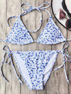 Soft Pad String Bikini Set - White S