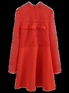 Vestido De Corte Recto A-line - Rojo S