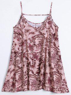 Slip Imprimir Flowy Vestido De Verano - Multicolor L