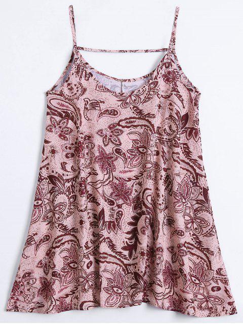 Slip Imprimir Flowy vestido de verano - Multicolor M Mobile