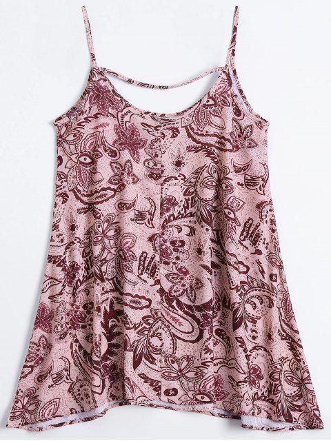 Robe D'été imprimée florale à bretelles spaghetti - Multicouleur L Mobile