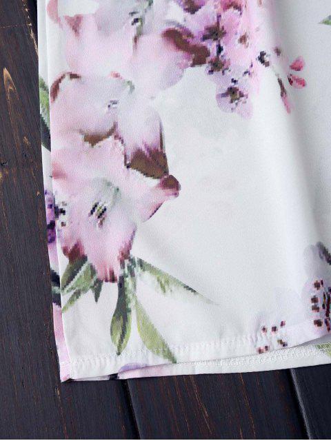 new Off The Shoulder Flower Vintage Dress - WHITE M Mobile