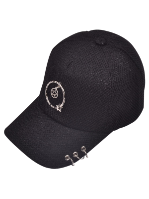 Metallic Pentagram Circles Baseball Hat