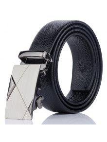 سبائك مثلث الخط مزين السيارات حزام مشبك - أسود