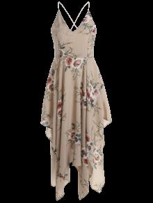Albaricoque Tirante Floral Espagueti Maxi De Pa 243;n De Vestido Impresi La Del uelo M r7frxn