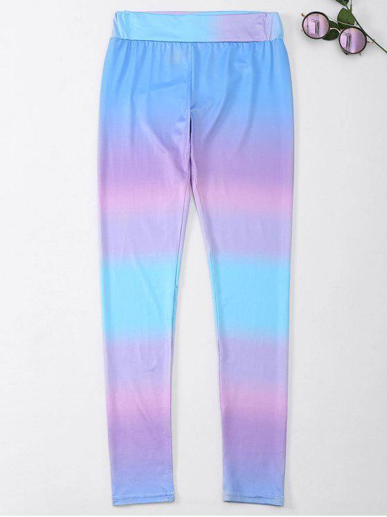 Ombre Skinny Footless Leggings - Multicolore XL