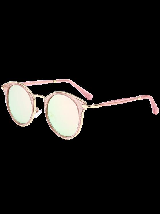 القط العين إطار معدني التفاف الشمسية - الوردي الإطار + عدسة الوردي