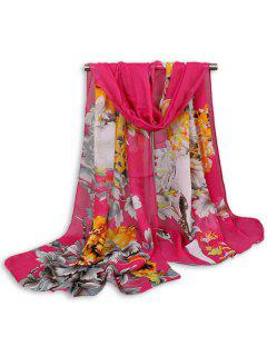 Chinoiserie Flowers Wash Painting Shawl Scarf - Tutti Frutti