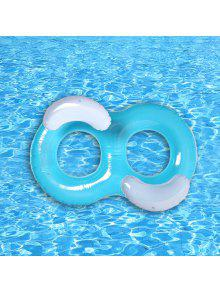 Inflatable Double Ring Float - Lake Blue