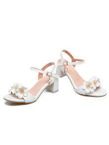 Block heels flowers sandals white sandals 38 zaful block heels flowers sandals mightylinksfo