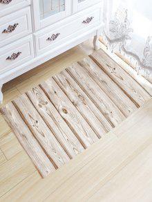 الخشب الحبوب الفانيلا عدم الانزلاق حمام البساط - أبيض فاتح W20 بوصة * L31.5 بوصة