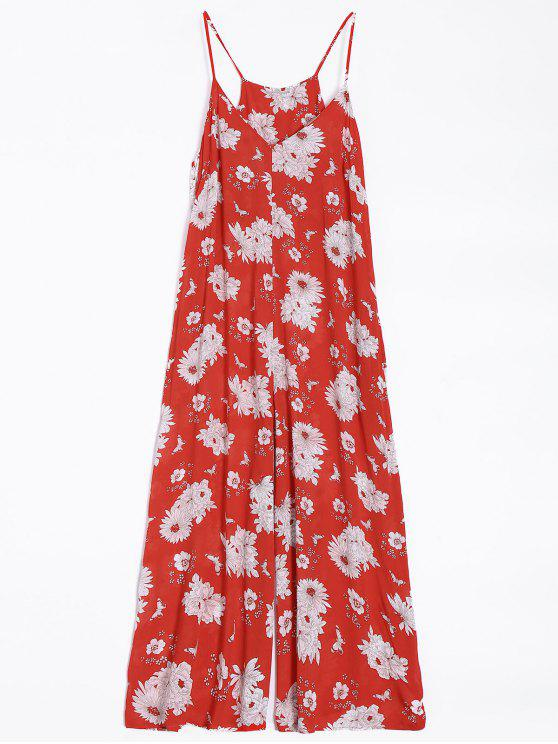 Flor de la pierna ancha del mono - Rojo L