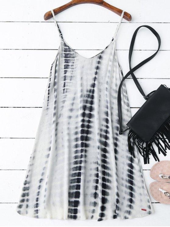 womens Tie-Dyed Trapeze Slip Dress - COLORMIX S
