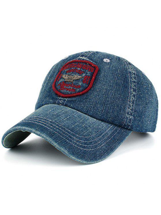 الدنيم رسائل شارة المرقعة قبعة بيسبول - أحمر