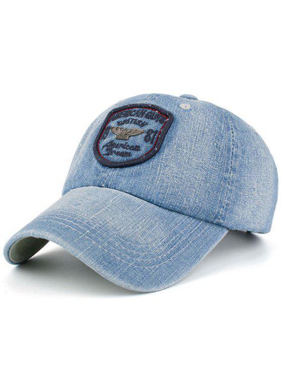 الدنيم رسائل شارة المرقعة قبعة بيسبول - Cadetblue رقم