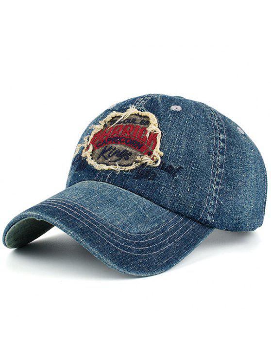 التطريز رسائل خليط الدنيم قبعة بيسبول - أحمر