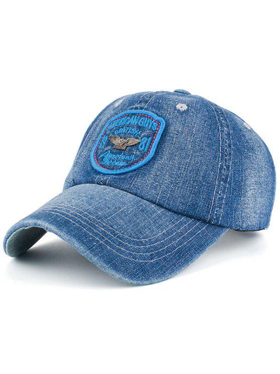 الدنيم رسائل شارة المرقعة قبعة بيسبول - أزرق