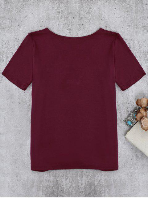 T-shirt à Lanières - Bourgogne M Mobile