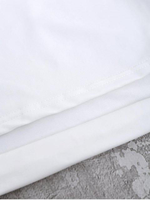 online Off Shoulder Cut Out Crop Top - WHITE M Mobile