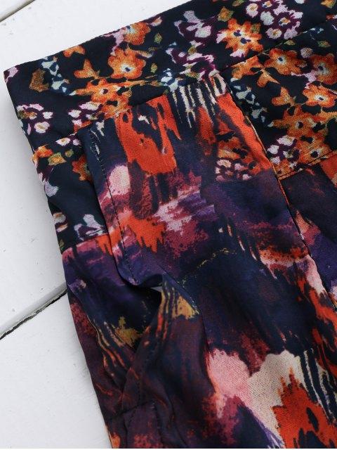 Shorts floraux à taille élastique - Floral L Mobile