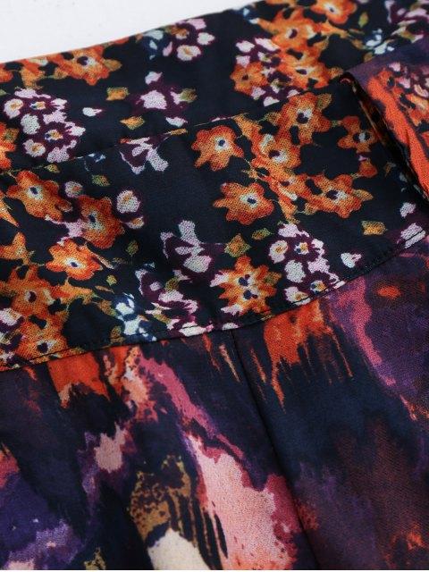shop Elastic Waist Floral Shorts - FLORAL S Mobile