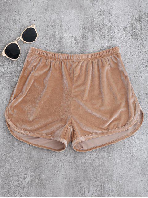 Pantalones cortos de terciopelo deportivo - Caqui S Mobile