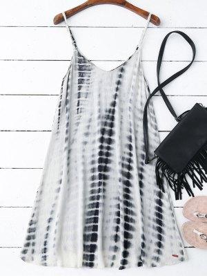 Vestido De Trapecio De Tie-dye Con Tirantes Finos - L
