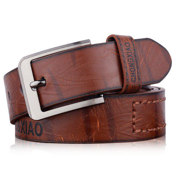 Letters Hot Stamping Faux Leather Belt 211716201