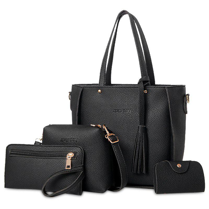 4 Pieces Tassel Tote Bag Set