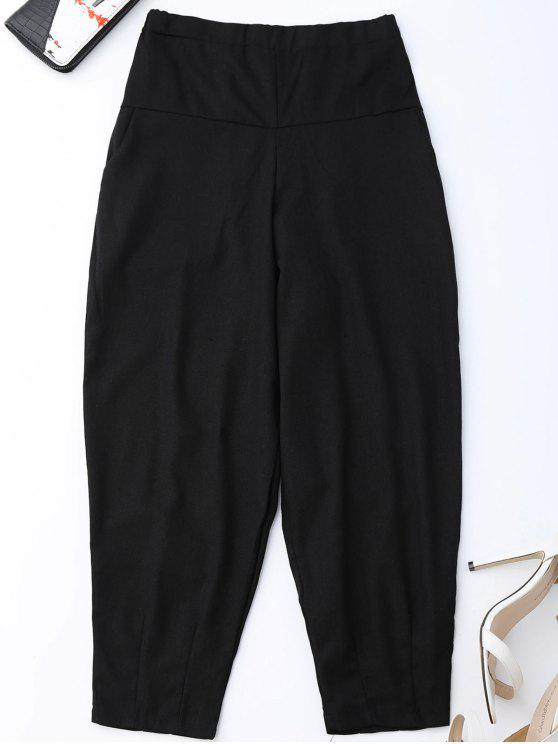 chic Carrot High Waist Pants - BLACK L