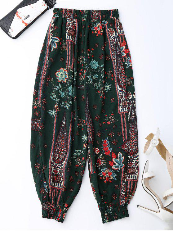 Pantalon bouffant floral - Multicolore 2XL