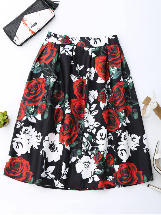 best Rose Print Skirt - COLORMIX ONE SIZE