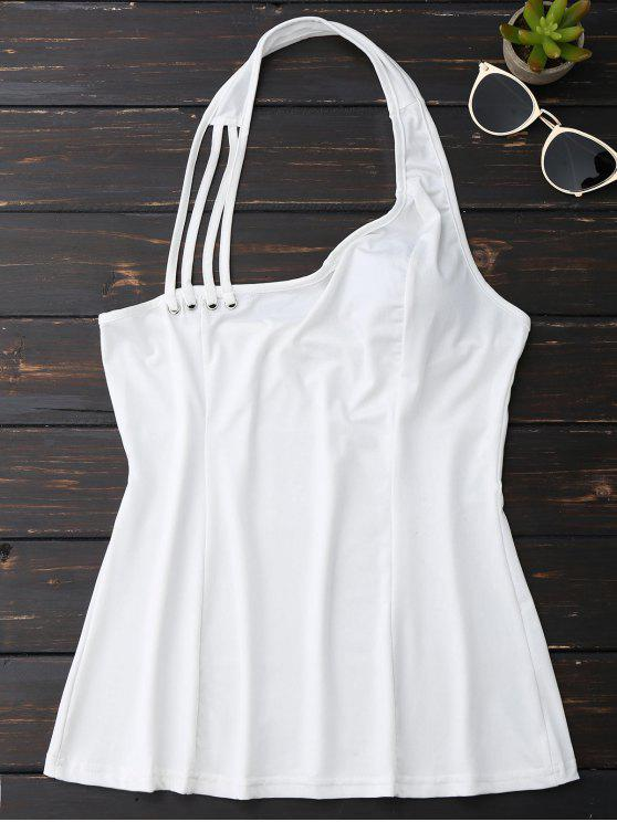 outfit Halter Strappy Tank Top - WHITE S