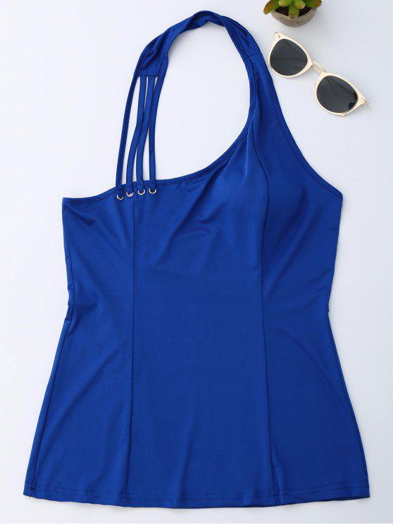 shops Halter Strappy Tank Top - ROYAL M