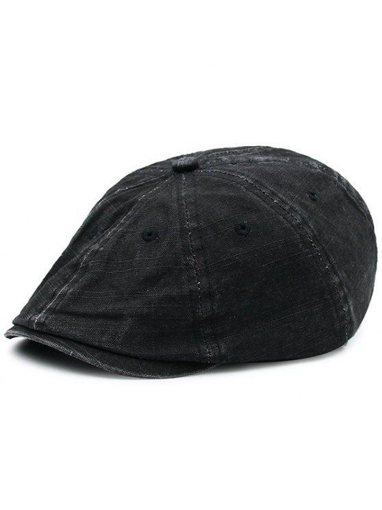 الاصطناعي المتوترة قابل للغسل الدنيم قبعة المستأجر قبعة - أسود