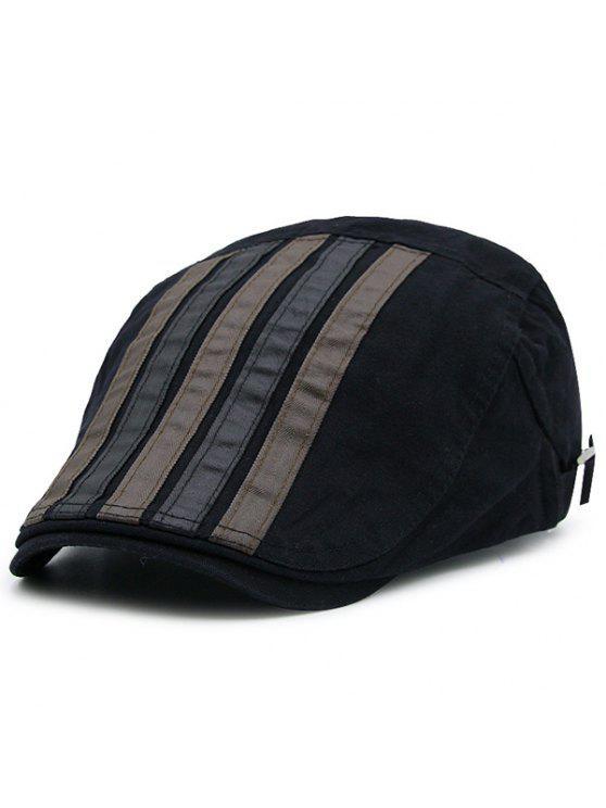 مخطط، سبليسد، خمر، قبعة الكابينة - أسود