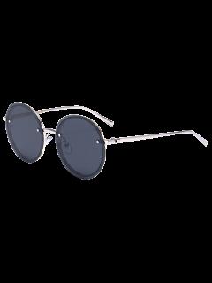 Gafas De Sol De Gafas De Sol Reflejo Reflejo - Marco De Plata + Lente Negra