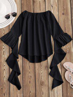 Dramatic Bell Sleeve Off The Shoulder Top - Black M