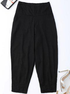 Carrot High Waist Pants - Black Xl