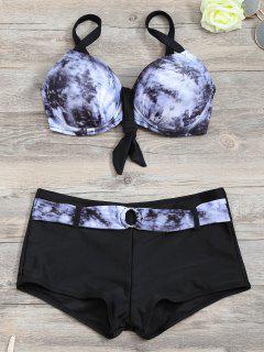 Soutien-gorge à Bikini Assorti à L'assortiment De Cravates Avec Des Boxeurs - Noir L