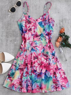 Vestido Floral De La Cintura Del Imperio - Floral S