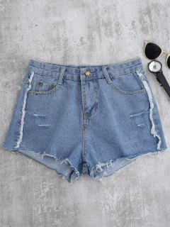 Cutoffs Ripped Shorts - Light Blue M