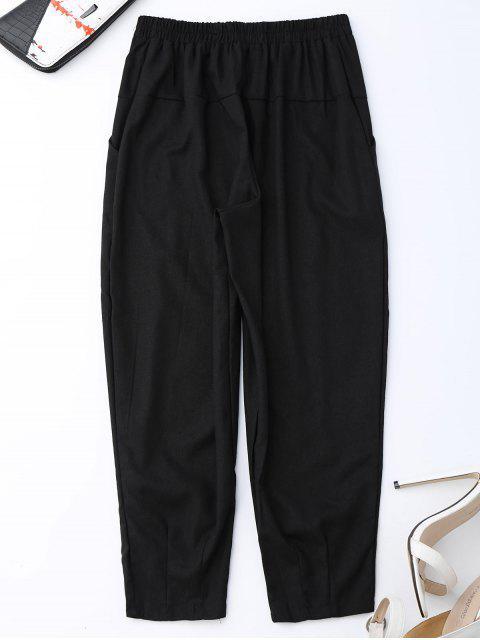 fancy Carrot High Waist Pants - BLACK XL Mobile