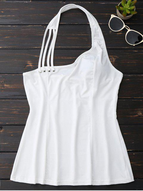 hot Halter Strappy Tank Top - WHITE M Mobile