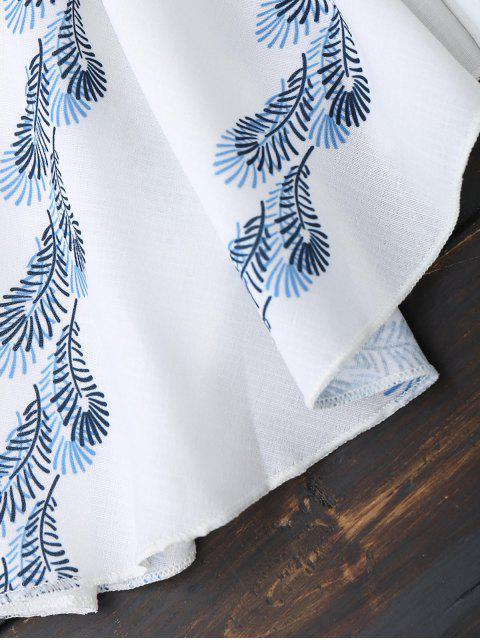 women's Off Shoulder Butterfly Sleeve Ruffle Dress - WHITE S Mobile