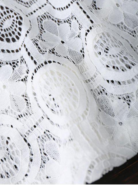Dessus de finition en dentelle - Blanc L Mobile
