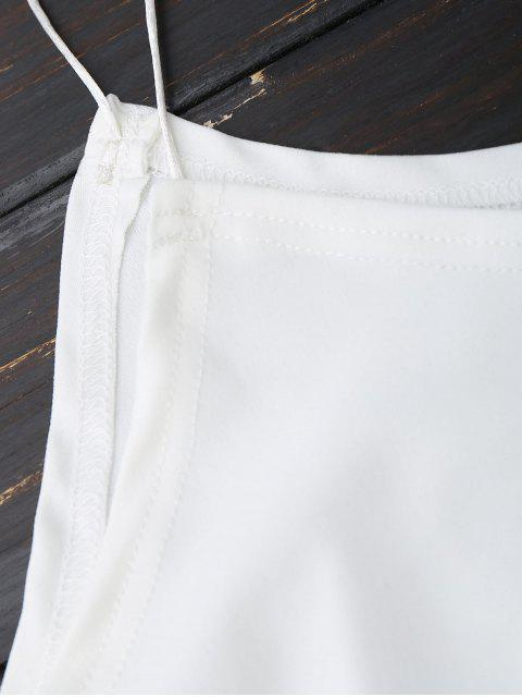 Robe à bretelles spaghetti à épaules dénudées - Blanc XL Mobile